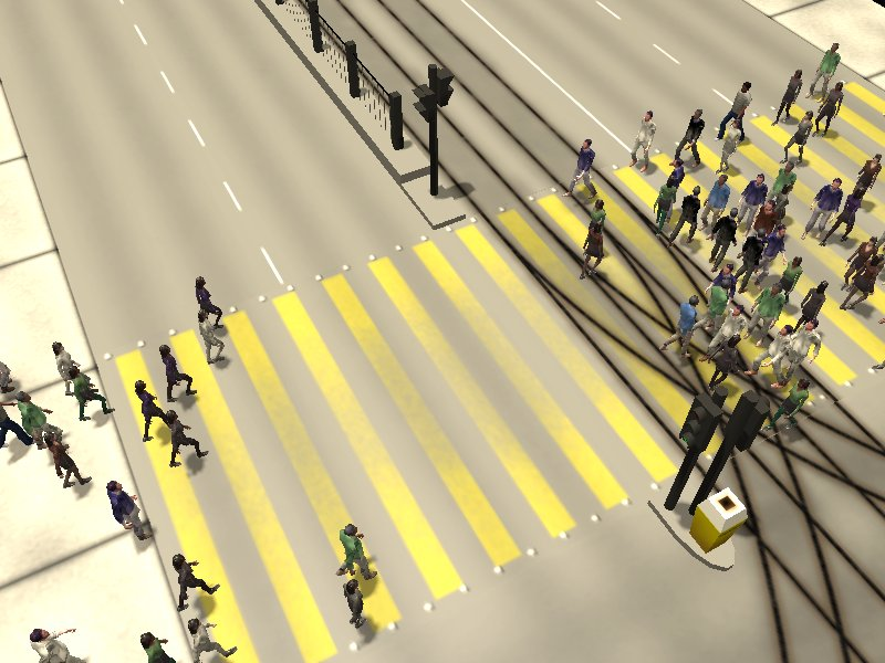 Crosswalk simulation #1