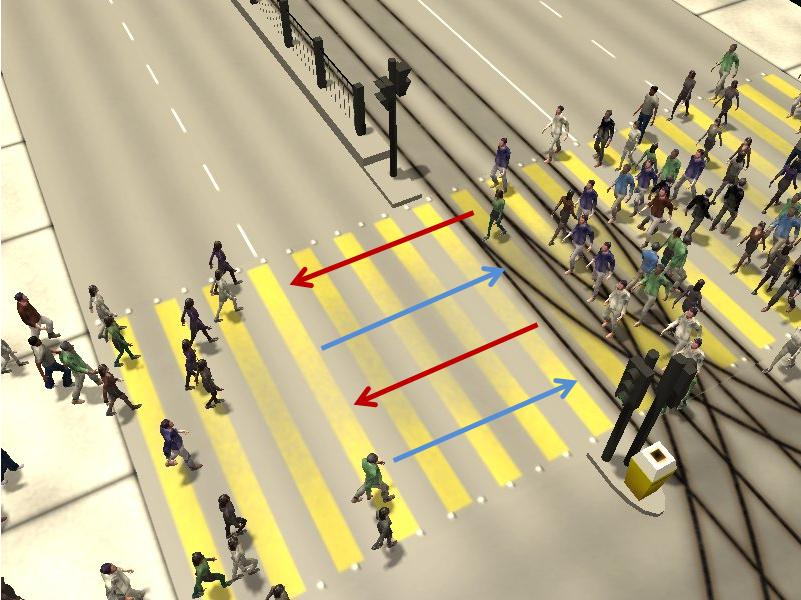 Crosswalk simulation #2