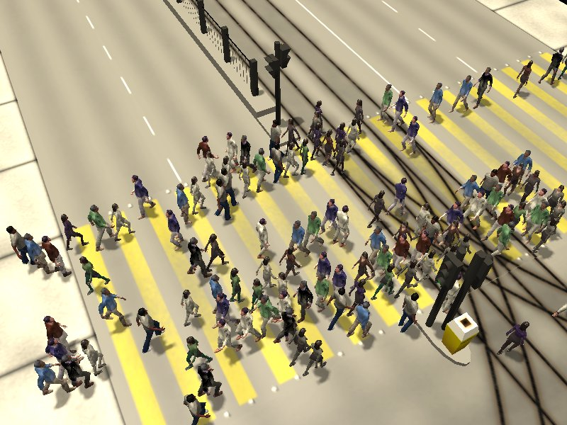 Crosswalk simulation #5