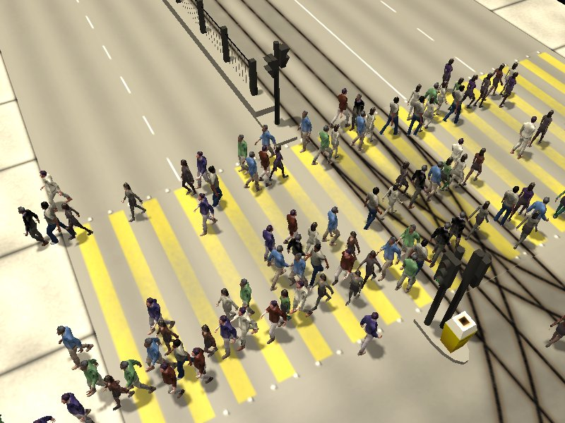 Crosswalk simulation #6