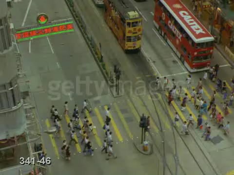 Video of a crosswalk in Hong Kong #1