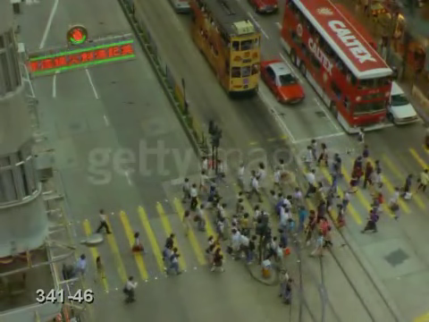 Video of a crosswalk in Hong Kong #2