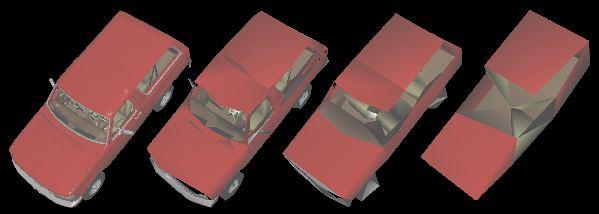 Figure 7 - Bronco HLODs