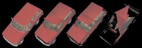 Figure 6 - Bronco LODs